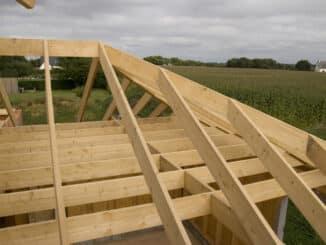 Holzhaus im Rohbau