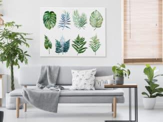 Bild in Grün im Wohnzimmer